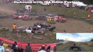 Rocky Mountain House Demolition Derby 2015 - Full Size Car FINALS!