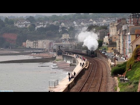 46100 'Royal Scot' and 34046 'Lord Dowding' on 'The Great Br…