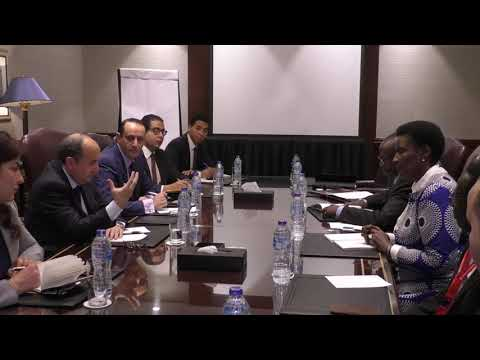 على هامش ختام فعاليات مؤتمر وزراء التجارة الافارقة
