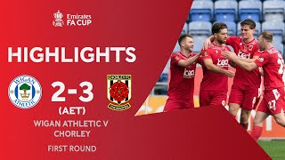 Hall Strikes In Extra-Time to Shock Latics! | Wigan Athletic 2-3 Chorley | Emirates FA Cup 2020-21
