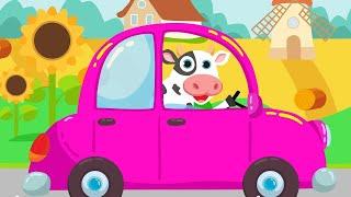 Машинки - кто в машине едет помоги нам угадай. Детская песенка про животных.