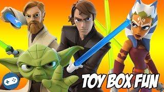 Star Wars The Clone Wars Disney Infinity Toy Box Fun Gameplay Compilation