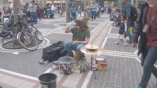 Techno drumming horse - Frankfurt 2018