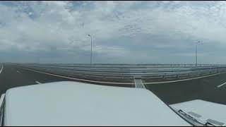 Первый проезд по крымскому мосту панорамное видео 360