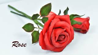 "Easy way to make ""Real Rose"" from clay 