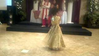 Inaya dancing to move your body like a snake