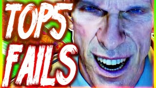 Top 5 Bo3 Zombie Fails | Week 30 (4th Wife Survival Guide Edition)
