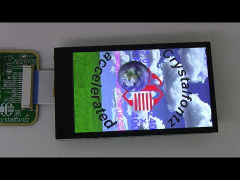 "3"" 240x400 Full-Color IPS TFT Display Demonstration"