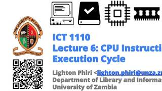 Lecture 06: CPU Instruction Execution Cycle