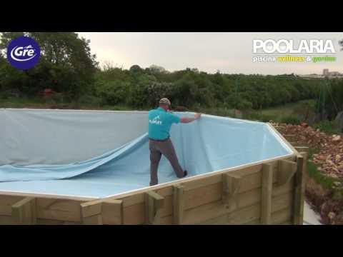 Instalación de una piscina de madera Gre