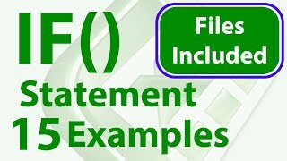 15 IF Statement Examples in Excel - Simple to Advanced - Workbook Included