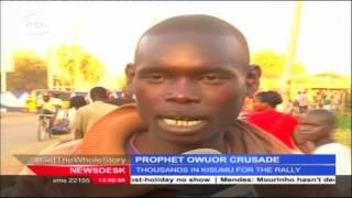 People suffering from various diseases arrive in Kisumu for Prophet David Owuor Crusade