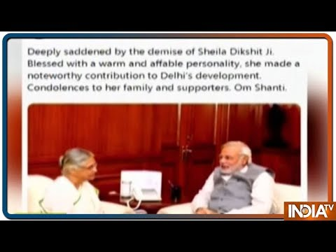 PM Modi Offers His Condolences in a Tweet on The Demise of Sheila Dikshit