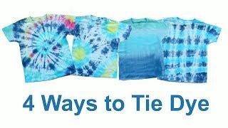4 Ways to Tie Dye - Bullseye, Swirl, Stripe and Ombre