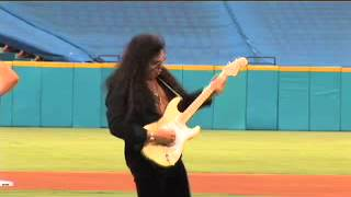 Yngwie Malmsteen playing National Anthem at Marlins game on Miami Music Television.