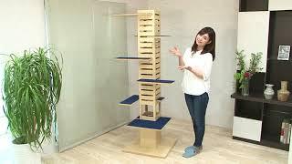 組み合わせ自在な日本製キャットタワー「necobacoT(ネコバコ T)」