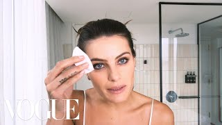 Brazilian Supermodel Isabeli Fontana Shows How to Prep Your Skin for Bed | Beauty Secrets | Vogue - dooclip.me
