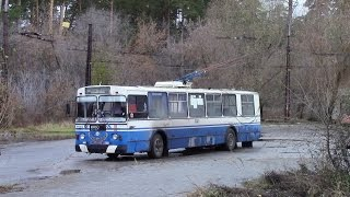 Trolleybus cab ride, Russia.