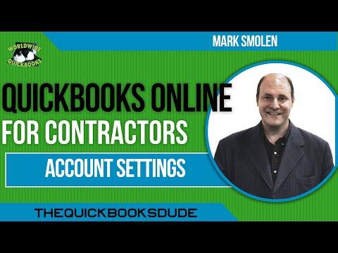 QuickBooks Online Contractor Account Settings