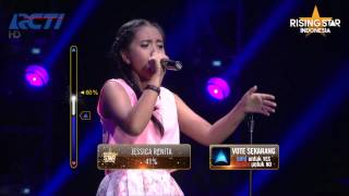 """Hanin Dhiya """"Because You Love Me"""" Celine Dion - Rising Star Indonesia Final Duels 1 Eps. 13"""