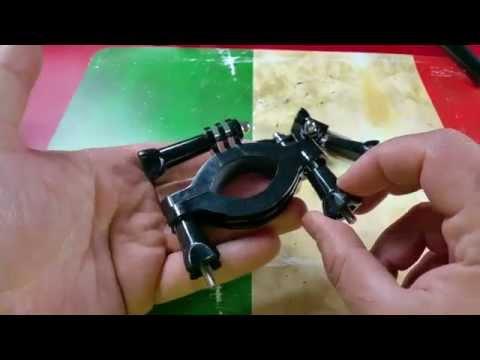 Morsetto per montaggio su bici + staffa di bloccaggio cornice Arm per GoPro Hero 1 2 3 3+ 4 HD