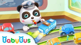 Baby Panda's Bus is Broken Down | Monster Truck Rescue Team | Kids Role Play | BabyBus