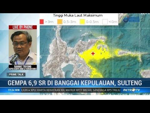 Update BMKG: Gempa di Banggai Kepulauan 6,8 SR, Warga Diminta Tetap Waspada