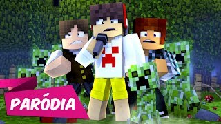 ♫ EU DESISTO - Paródia DESPACITO / Luis Fonsi ft. Justin Bieber (Minecraft Musica)