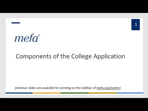 Components of the College Application