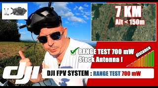 ✔️ DJI FPV System : Test Long Range N°2 / 7km / 700 mW / Stock Antenna