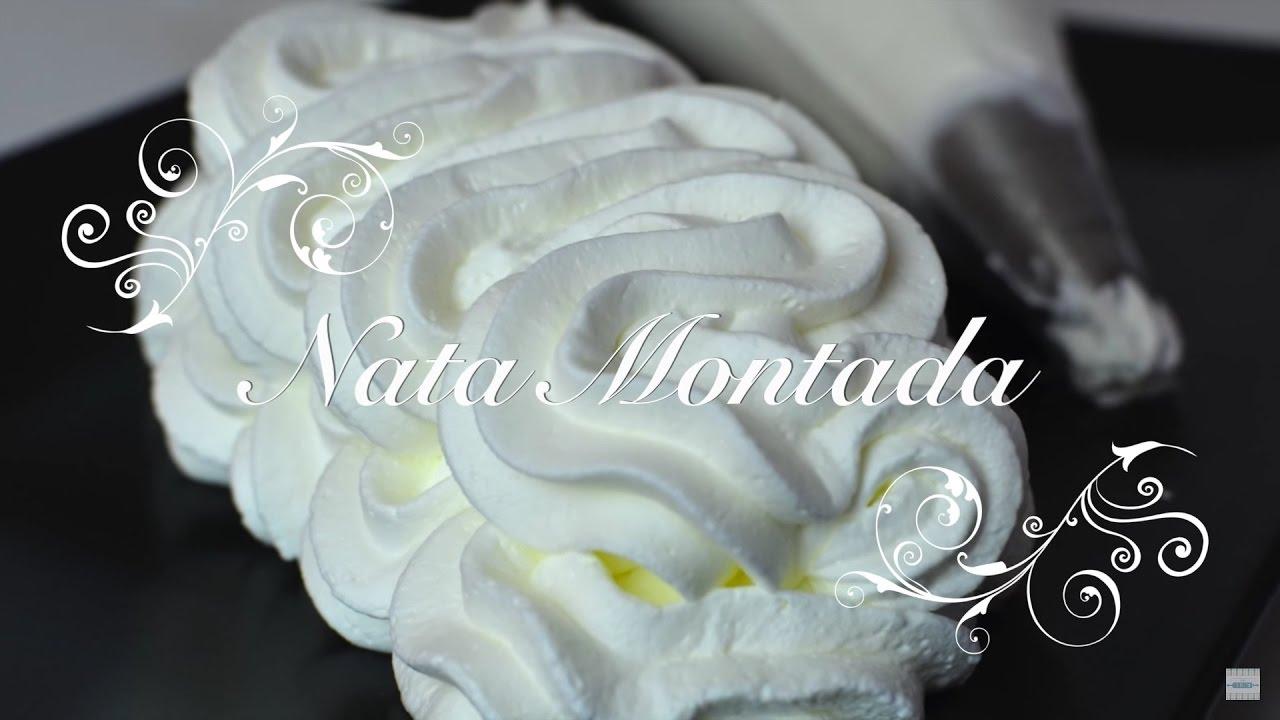 Nata Montada Vegetal Extra Firme y muy consistente - Recetas de Cocina por Chef de mi Casa.com
