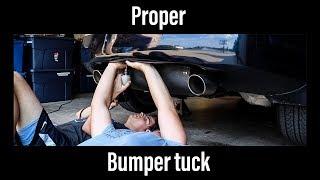 PROPER 350z bumper tuck (easy)