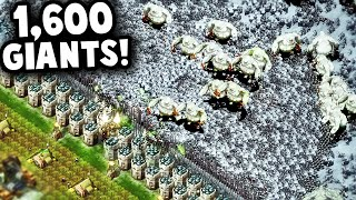 TRAPS, TREASURES, and 1,600 GIANTS! | They Are Billions Custom Map Gameplay