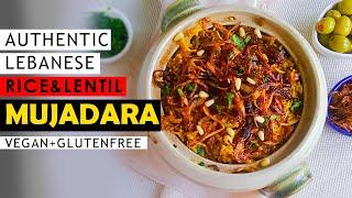 MUJADARA - Vegan Middle Eastern Food - Mujadara Vegan Recipe
