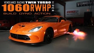 1060RWHP 2015 VIPER TA - TWIN TURBO - BUILD DYNO ACTION