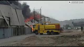 Fire rages at Durban factory