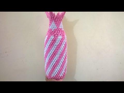 3d Origami Flower Vase Easy Step Steemit