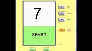 Audio Flashcards for Kids - Numbers