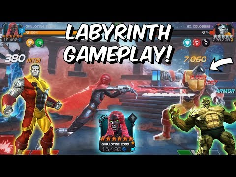 6 Star Guillotine 2099 VS Labyrinth of Legends Colossus &amp Abomination - Marvel Contest of Champions
