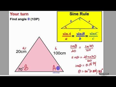 Sine and Cosine Rule 1 (GCSE Higher Maths)- Tutorial 17