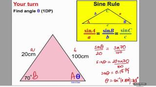Sine and Cosine Rule 1 (GCSE Higher Maths)- Tutorial 17