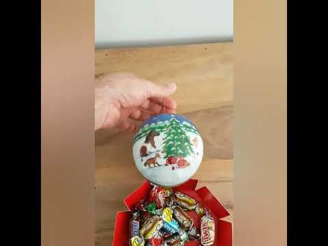 Weihnachtskugel Ø 10 cm No.2 - Nostalgische Verpackung aus Pappe zum Befüllen
