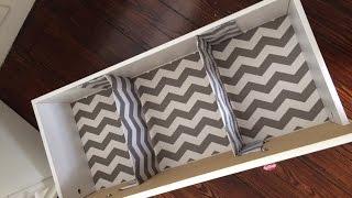 DIY Nursery Drawer Dividers {Very Inexpensive!} - VEDA Day 21