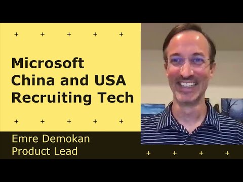 Cover Image for Working at Microsoft China and USA, Recruiting Tech - Emre Demokan