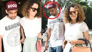 Kangana Ranaut Spotted With Her Brother Akshit Ranaut At Juhu PVR