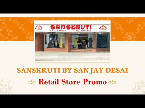 Sanskruti by Sanjay Desai retail store for men and women clothes & apparels in Ahmedabad. Wide range of handloom cotton fabrics, screen print cotton, floral, formal, embroidered fabrics, accessories and many more available on our store.