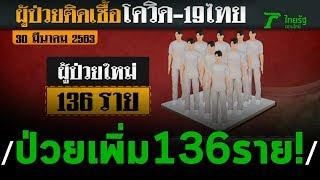 พบป่วยโควิด-19เพิ่ม 136 ราย | 30-03-63 | ข่าวเที่ยงไทยรัฐ