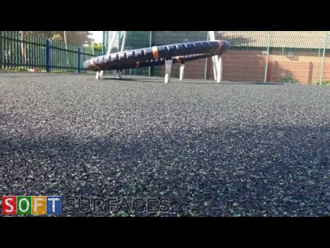 Download Black Wetpour Play Area with 5% Green Fleck in Swansea, Wales | Wet Pour Playground Mp4 HD Video and MP3