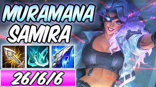S+ BROKEN ONE-SHOT CRIT | MURAMANA PSYOPS SAMIRA ADC | New Build & Runes | League of Legends