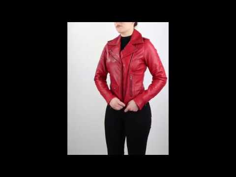 """Ricano Lederjacke Style """"Sicilia Perfecto"""" für Damen in Rot"""